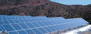 Photovoltaic plant with Polycrystalline Silicon panels installed on non-tracked support structures